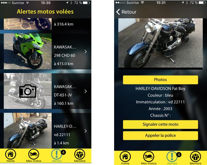 Moto-Guard, l'appli anti vol pour motard !